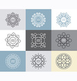 set of calligraphicflower abstract templates vector image vector image