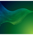 abstract green halftone background vector image