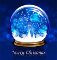 ball snow vector image