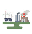 Concept of alternative energy sources vector image