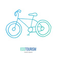ecotourism design element isolated on white vector image