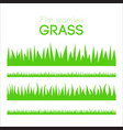 flat grass set isolated on white background vector image
