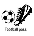 football pass icon simple black style vector image