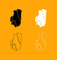 hand holding another hand sign of love icon vector image