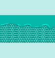 liquid flowing seamless mint honeycomb vector image