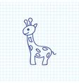 of zoo symbol on giraffe vector image