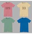 T shirt design templates vector image