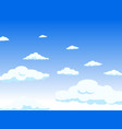 view from the window to the sky the clouds long vector image