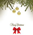 Classic Christmas background with a bow vector image