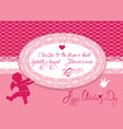 horizontal holiday card with cute angel and oval vector image vector image
