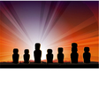 Easter Island Monument Statues Moai vector image vector image