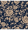 Blooming roses floral seamless pattern vector image