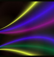 abstract colorful bright wave design vector image
