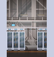 data center room hosting server computer vector image