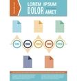 Document layout Infographic elements Timeline vector image