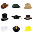 Hat set vector image