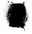 Ink blots frame vector image
