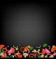 pizza border with black background vector image