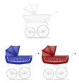 retro baby carriage stock vector image