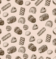 seamless pattern with chocolates vector image