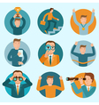 set mascot business vector image