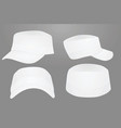 white military cap template vector image