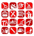 color construction and repair icons set vector image vector image