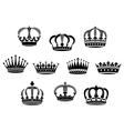 Medieval heraldic crowns set vector image