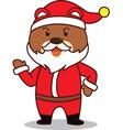 Santa Bear vector image