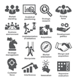 Business management icons Pack 27 vector image