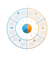 Ring from colored lines infographic 6 vector image
