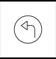 arrow back line icon mobile sign and only left vector image