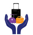 Baggage insurance sign icon Travel luggage vector image