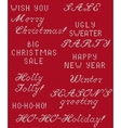 Christmas Knitted Phrase 1 vector image