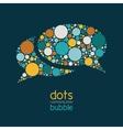 dots communication bubble vector image