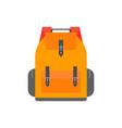 orange back pack for study schoolbag vector image