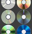 set of discs cd dvd blu-ray vector image