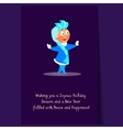 Snow Maiden Dancing and Smiling Christmas vector image