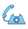 vintage telephone communication vector image