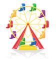 ferris wheel 01 vector image vector image