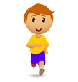 running man in yellow t-shirt vector image vector image