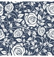 Seamles pattern with stems of white roses vector image vector image