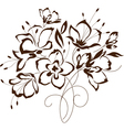 floral design bouquet of stylized flowers vector image vector image