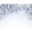 Winter background with fir branches vector image