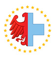 Germany eagle and Medical logo icon design vector image