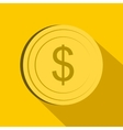 Dollar icon flat style vector image