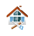 repair and construction of houses vector image