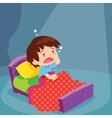 Cute boy have Sleepless vector image