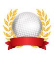 golf award sport banner background white vector image