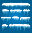 icicles and snowdrifts vector image